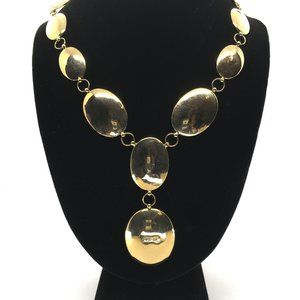 "18"" 18K Arezzo Italian Gold Disc Necklace"